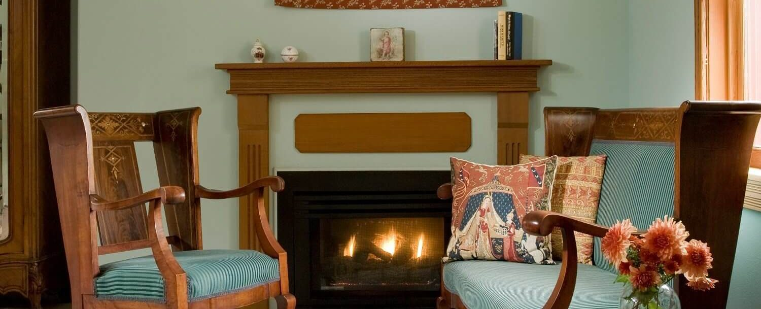 Fire Place in Tapestry Room at Arch Cape Inn