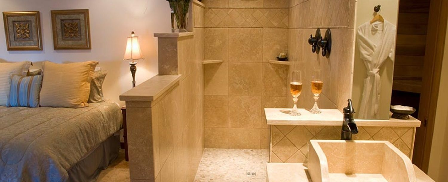 Large Shower in Tuscan Room at Arch Cape Inn